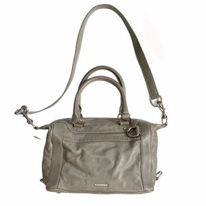 Rebecca Minkoff MAB Mini Satchel Gray Leather Bag